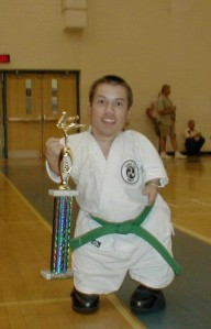 AKJU Karate Tournament during my senior year of high school. I got second place doing kata